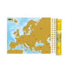 Scratch map Eiropa 1:9 000 000
