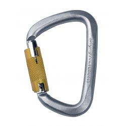 Carabiner D Steel Triple Lock