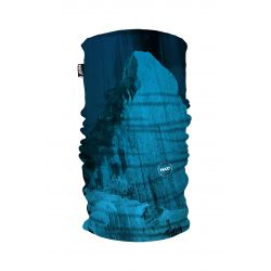 Galvassega Had Printed Fleece Tube Matterhorn Blue